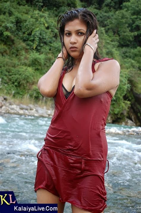 Nepali Glamour Model Kamala Photos In Red Costume ~ Reevideo