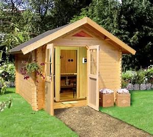Dacher hauschen garten landschaft aussenbereich for Französischer balkon mit sauna bauen garten