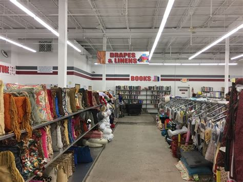 thrift store features red white blue thrift store