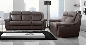 carla salon relaxation fixe cuir buffle personnalisable With salon cuir buffle