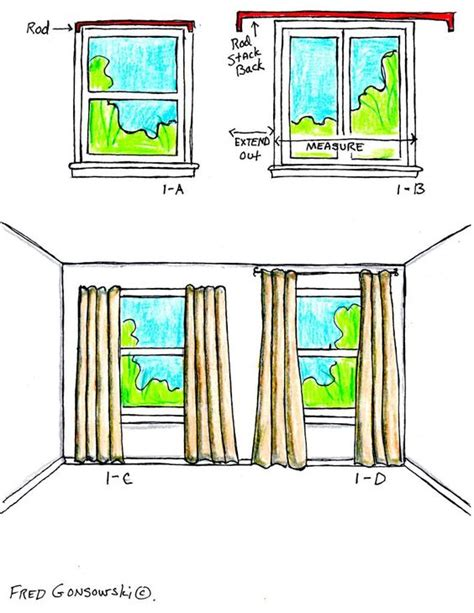 the right way to hang curtains and drapes stack back