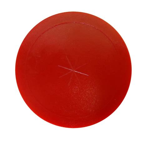 red lexan commercial air hockey puck