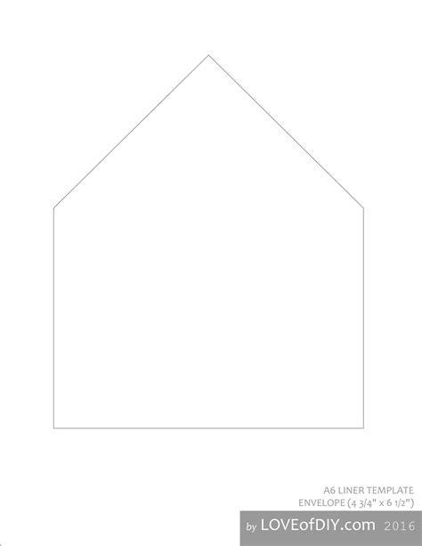envelope liner template envelope liner tutorial