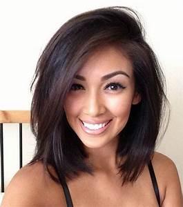 Coiffure Femme Mi Long : coupe mi long femme brune couleur de cheveux mi long ~ Melissatoandfro.com Idées de Décoration