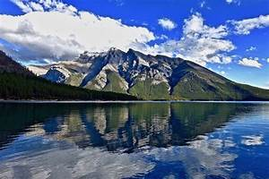 mountain, , lake, , reflection, wallpaper, , hd, nature, 4k