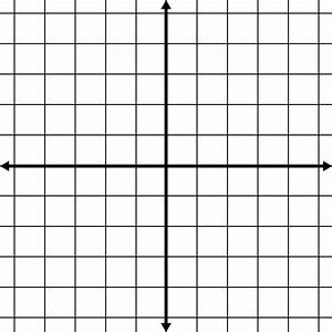 Blank Coordinate Grid With Grid Lines Shown