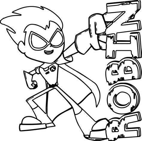 teen titans  robin coloring pages