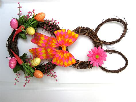 carrot easter bunny wreath grapevine bunny by
