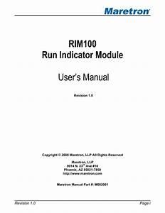 Run Indicator Module Rim100 Manuals