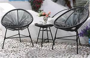Fauteuil Fil Scoubidou : salon de jardin fil noir style scoubidou ~ Teatrodelosmanantiales.com Idées de Décoration