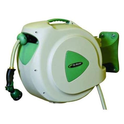 retractable garden hose rl flo master 65 ft retractable hose reel with 8 pattern