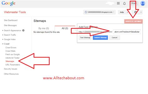 How Submit Your Blog Sitemap Google Webmaster Tools