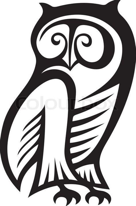 black  white owl symbol  wisdom  wealth stock