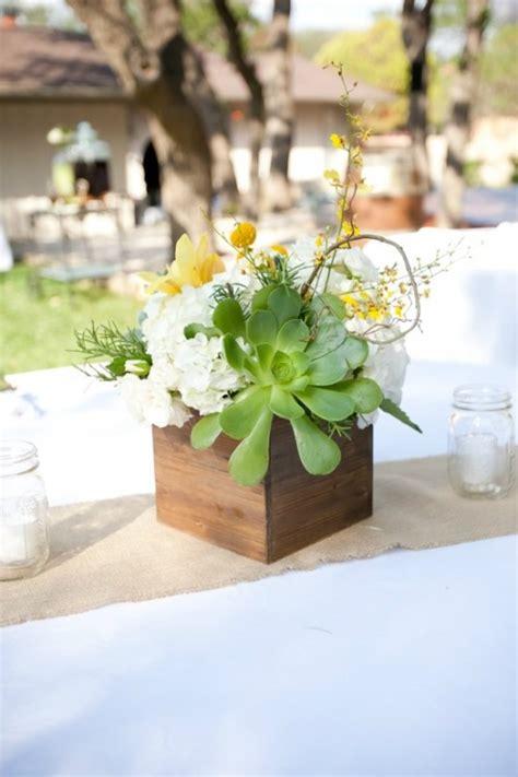 24 Succulent Centerpieces For Your Reception Table