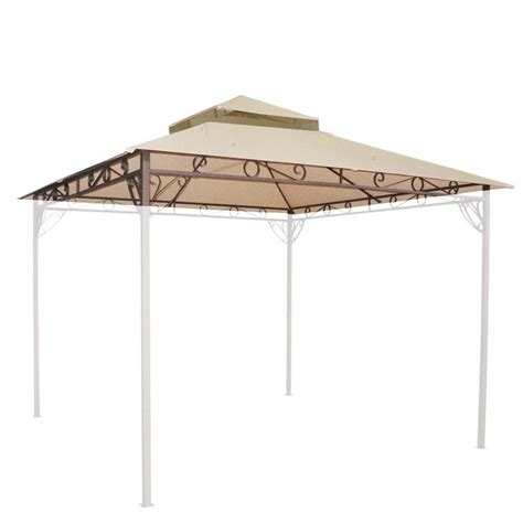 replacement canopy cover 10x10 10 6 x10 6 waterproof gazebo top 2 tier replacement
