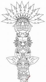 Pole Totem Coloring Bestcoloringpagesforkids Articulo Mario sketch template