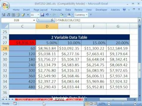 excel magic trick  data table  variable