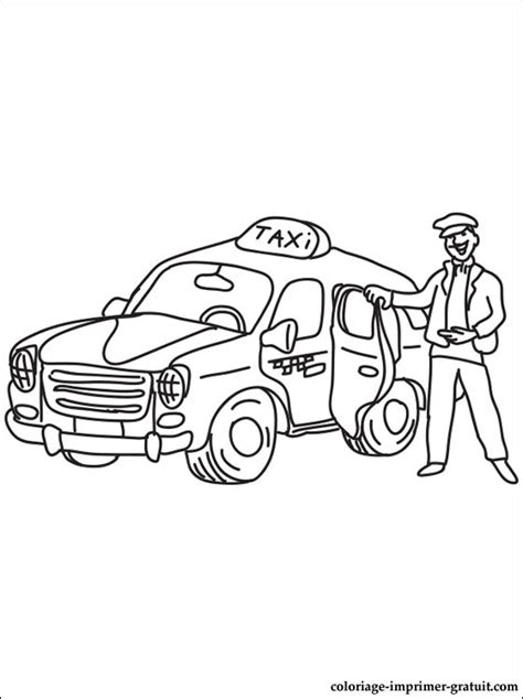 dessins de coloriage taxi  imprimer