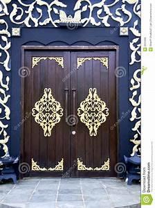 Traditional Malay House Doors Stock Photo - Image: 2241206