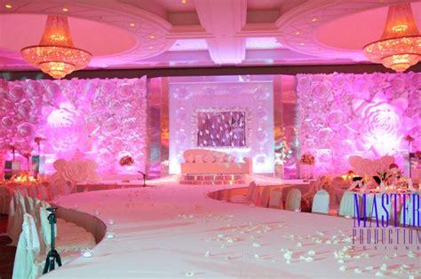 paper flower stage design arabic wedding  dubai
