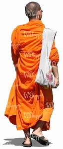 cut out buddhist monk walking - cut out people - VIShopper