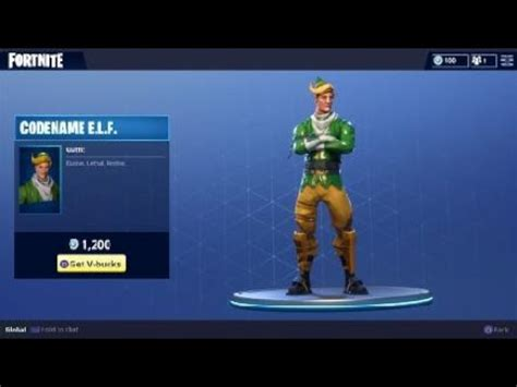 Fortnite Codename E.L.F Costume - Holiday Elf Character Outfit - YouTube