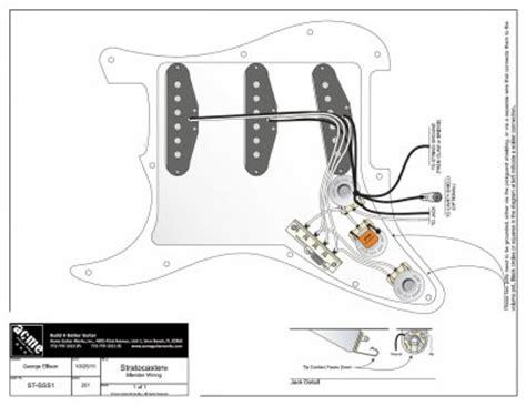 Blender Strat Wiring Diagram by Strat Blender Pot And 50s Mod Fender Stratocaster Guitar