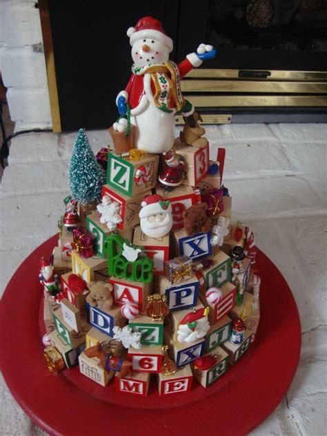 christmas tree   wooden abc blocks