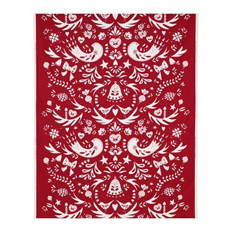 IKEA Vinter 2016 Fabric Material RED on White Scandinavian