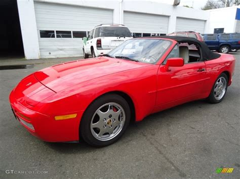convertible porsche red guards red 1990 porsche 944 s2 convertible exterior photo