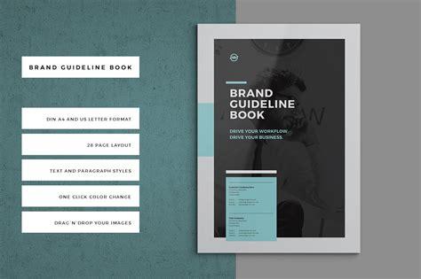 brand manual brochure templates creative market