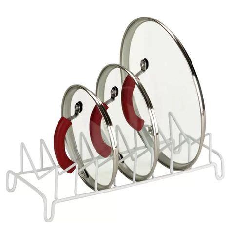 lid organizer steel countertop dish rack lid organizer