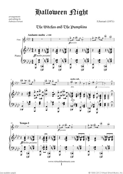 halloween sheet   flute  piano  interactive