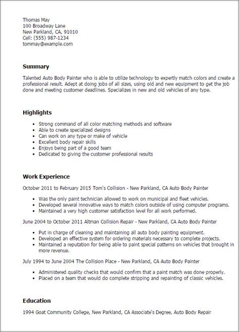 Sle Resume Painter Construction by Painters Resume Uk Sales Painter Lewesmr