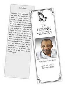 Free Memorial Bookmark Templates Funeral