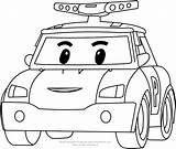 Poli Robocar Coloring Drawing Pages Version Paintingvalley sketch template