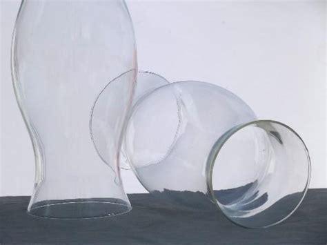 large glass hurricane ls hand blown glass hurricane shades for pillar candles pair