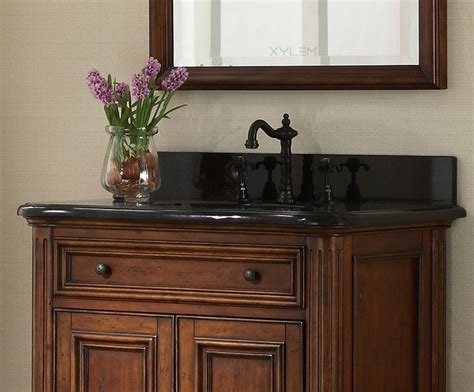 vintage single sink bathroom vanity distressed maple