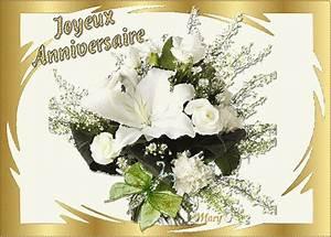 Bouquet Fleurs Blanches : joyeux anniversaire bouquet de roses blanches fleurs image ~ Premium-room.com Idées de Décoration