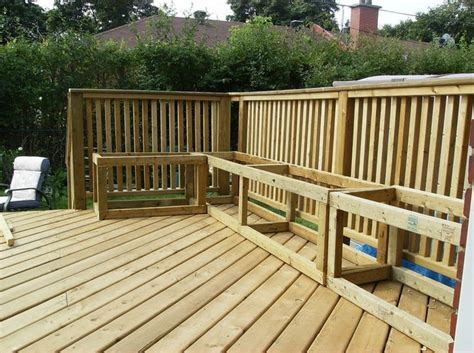 Building A Deck Bench by Building Storage Benches On A Deck For The Home