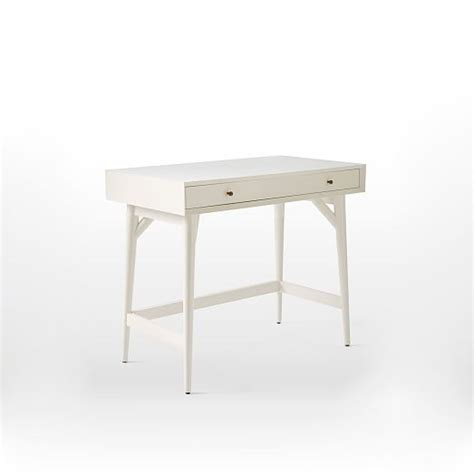 mid century mini desk mid century mini desk white west elm