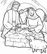 Jesus Coloring Birth Bible Born Printable Colouring Manger Drawing Sheet Nativity Tocolor Joseph Getcolorings Mary Sketches Getdrawings Christian Template Stable sketch template