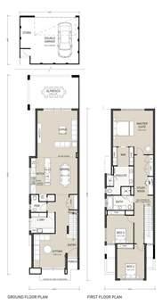 narrow lot house plans floor plan friday narrow block storey