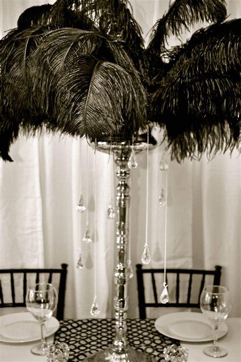 Black Feather Centerpiece By My Dream Fiesta My Dream