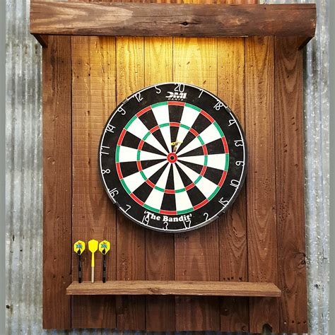 dart board back board with light