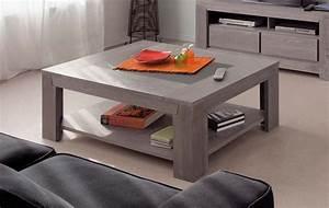 Table Basse Grise Pas Cher : table basse carree grise le bois chez vous ~ Teatrodelosmanantiales.com Idées de Décoration