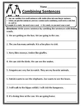Joining Sentences Worksheet Livinghealthybulletin