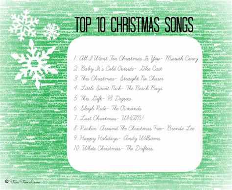 top 10 christmas songs take two loves