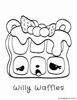Coloring Waffles Willy Num Noms Pages Template sketch template