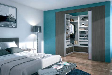 decor chambre dressing intégré un design personnalisé en accord avec